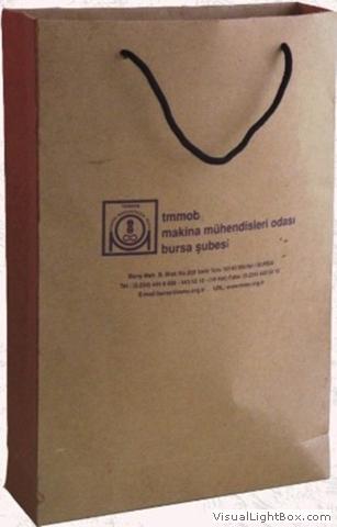 Kordon saplı kraf karton çanta