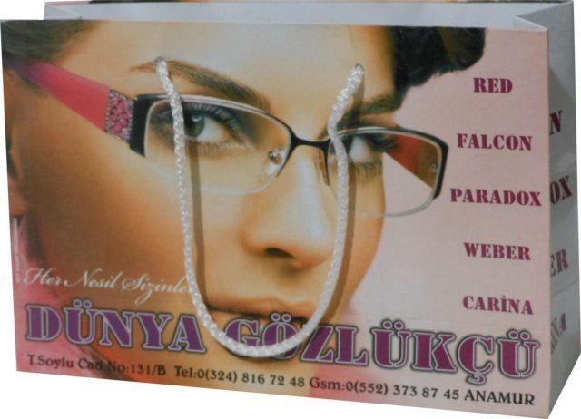 Yatay gözlük karton Çantası